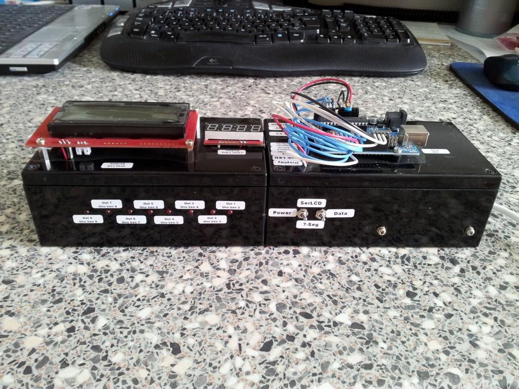 Arduino simulerings box set fra bagsiden