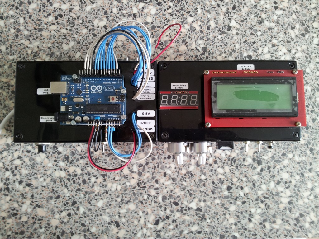 Arduino simulerings box set fra toppen