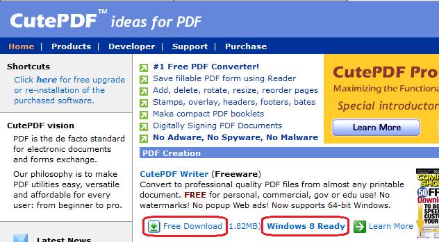 CutePDF - Free Download