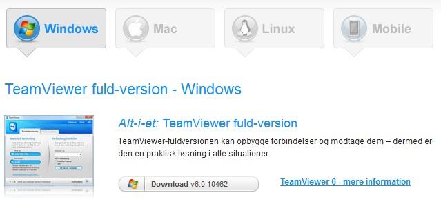 TeamViewer dovnload alt i en
